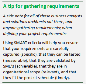 Use SMART Criteria to ensure you gather project requirements even better.